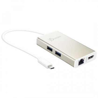 J5 CREATE USD TYPE-C MULTI-ADAPTOR  HDMI/ ETHERNET/ USB 3.0/ PD2.0 (JCA374)