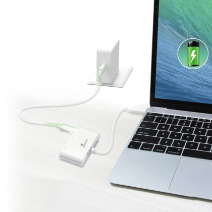 J5 CREATE USD TYPE-C MULTI-ADAPTOR HDMI/ USB 3.0/ POWER DELIVERY (JCA379)