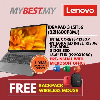 Lenovo IdeaPad 3 15ITL6 82H800P8MJ 15.6'' FHD Laptop Arctic Grey ( i5-1135G7, 8GB, 512GB SSD, Intel, W10, HS )