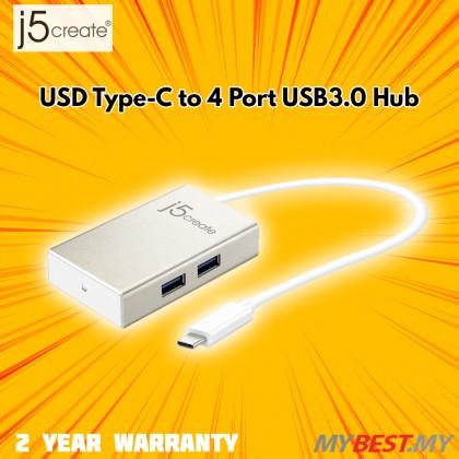 J5 CREATE USB TYPE-C TO 4 PORT USB 3.0 HUB (JCH343)