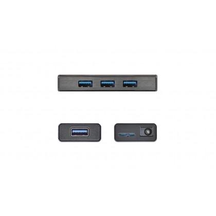 J5 CREATE USB 3.0 TO 4 PORT MINI HUB WITH AC ADAPTER (JUH340)