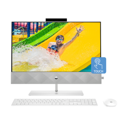"""HP PAVILIOON 24-K1001D AIO TOUCH (INTEL I5-11500T/ MX350 4GB/ 4GB RAM/ 512GB SSD/ 23.8"""" FHD TOUCH-SCREEN/ WIN 10) PRE-INSTALLED MICROSOFT OFFICE HOME & STUDENT 2019"""
