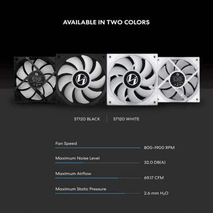 LIAN LI ST120 3 X 120MM ARGB FAN SET BLACK) - ST120-3B