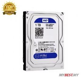 WD Blue 1TB Desktop Hard Disk Drive (WD10EZEX) - 7200 RPM SATA 6Gb/s 64MB Cache 3.5 Inch