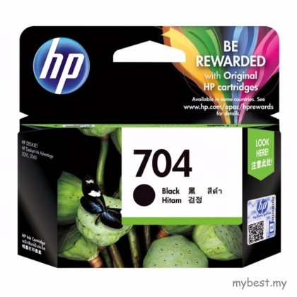 HP 704 Black Ink Cartridge (CN692A)