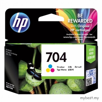 HP 704 Tricolor Ink Cartridge (CN693AA)
