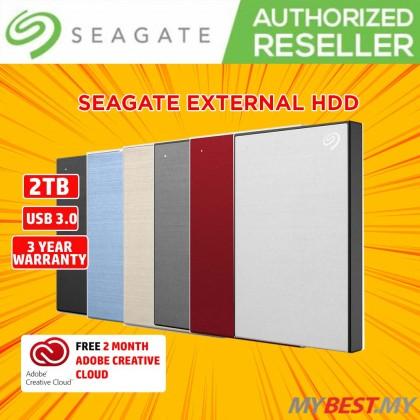 Seagate 2TB Backup Plus Slim External Hard Drive (Red)