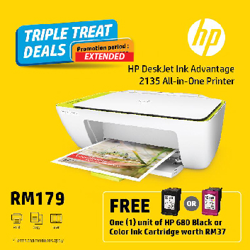 HP Deskjet 2135 Printer Free Ink