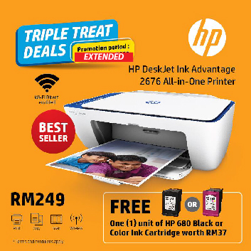 HP Deskjet 2676 Printer Free Ink